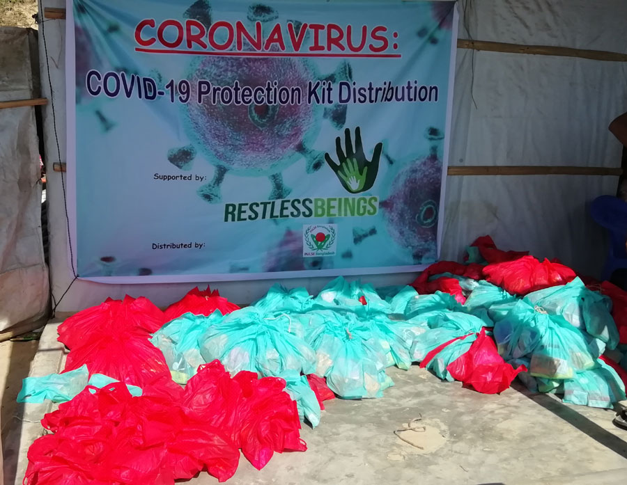 Coronavirus (COVID-19): Pulse Bangladesh engaged in protection of COVID-19 through distribution of emergency Kits and Leaflets