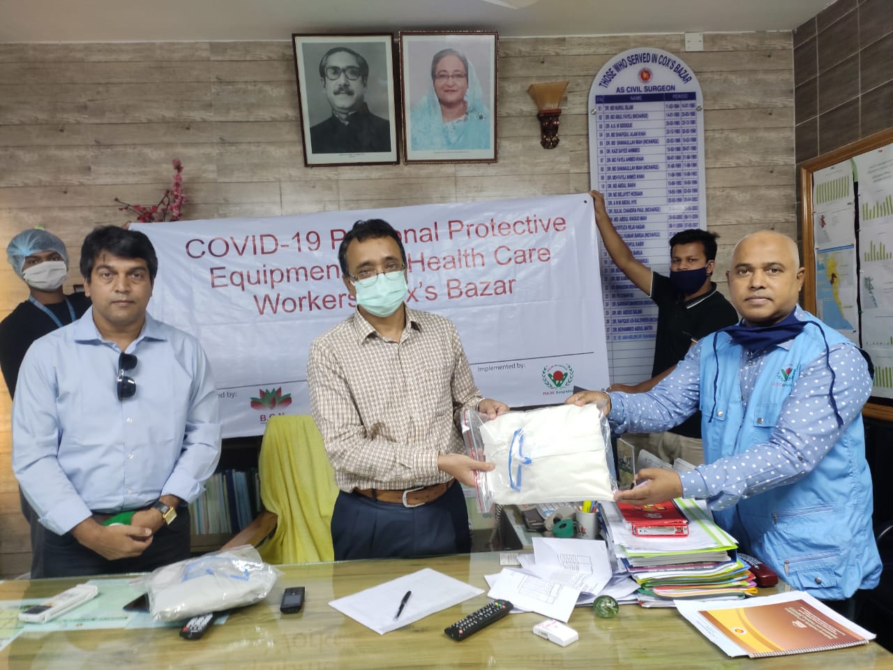 Distribution of COVID-19 Personal Protective Equipment for Health Care Workers at Cox's Bazar